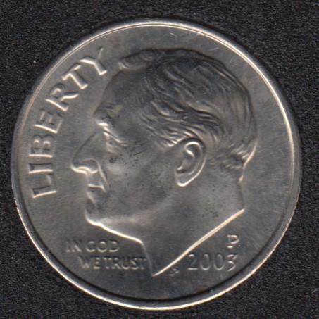 2003 P - Roosevelt - B.Unc - 10 Cents