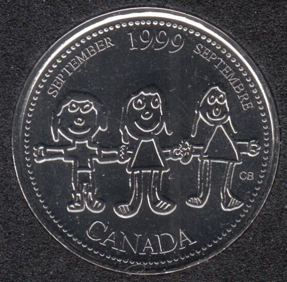 1999 - #9 NBU - Septembre - Canada 25 Cents