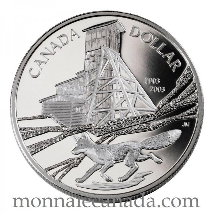 2003 - Dollar épreuve Numismatique en argent Cobalt - Sans Taxe