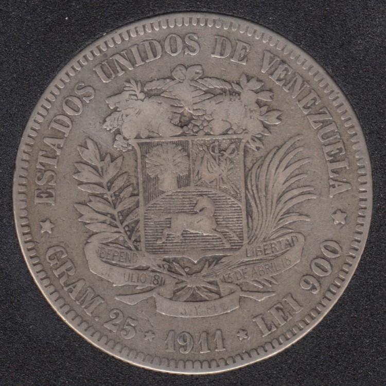 1911 - 5 Bolivares - Venezuela