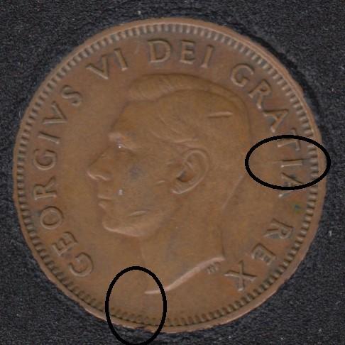 1950 - Break Bust to Rim & I to Rim - Canada Cent