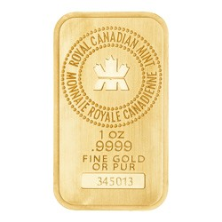 1 oz Royal Canadian Mint Gold Wafer Bar - No Tax