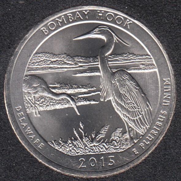 2015 P - Bombay Hook - 25 Cents