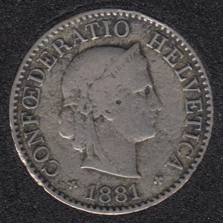 1881 B - 5 Rappen -Suisse