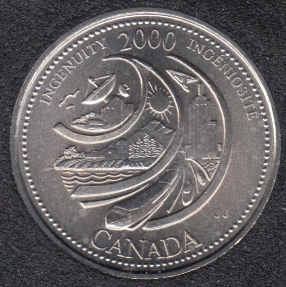 2000 - #2 B.unc - Ingéniosité - Canada 25 Cents