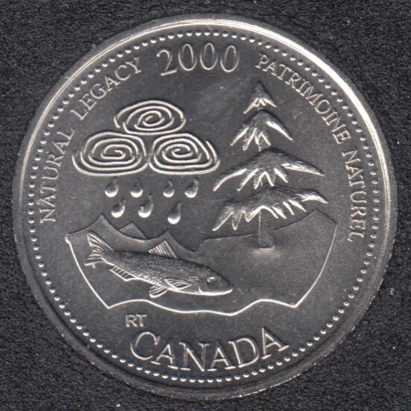 2000 - #5 B.Unc - Patrimoine Naturel - Canada 25 Cents