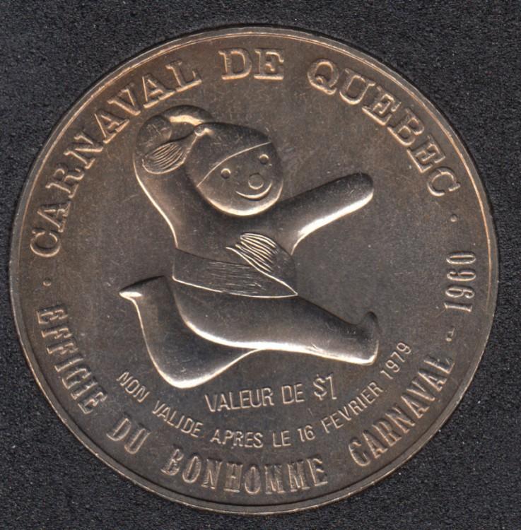 Quebec - 1979 Carnival of Quebec - 1960/Boat - Trade Dollar