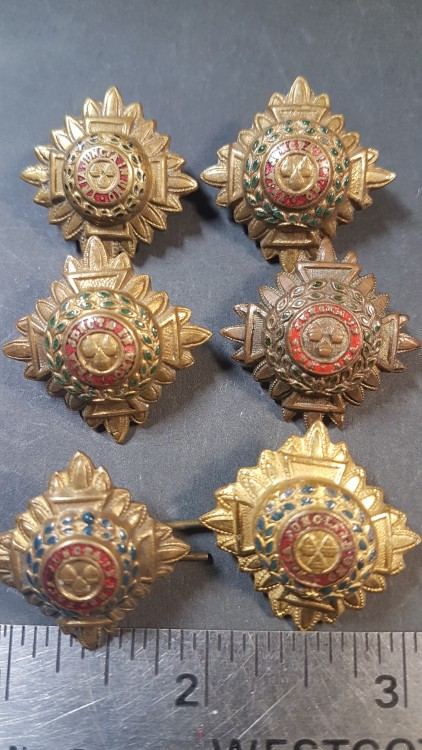 #92 Tria Juncta In Uno WWII British Military Officer Lot 6 Badge Pin