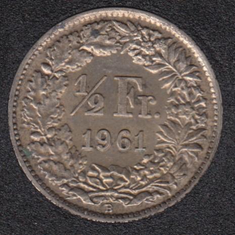 1961 B - 1/2 Franc - AU - Suisse