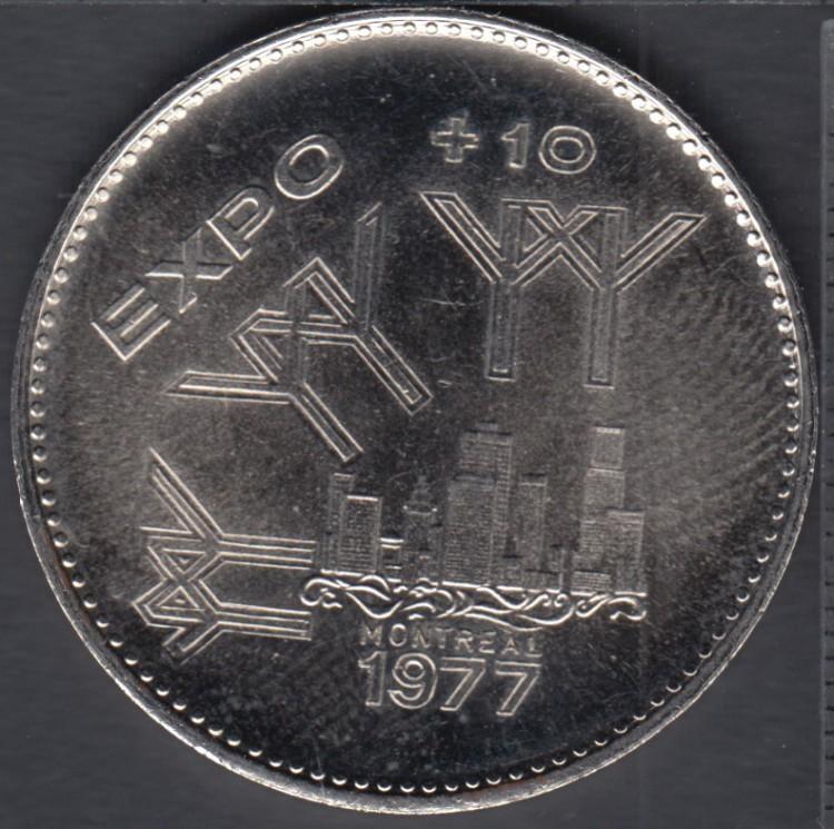 Montreal - 1977 - Expo + 10 - $1 Trade Dollar