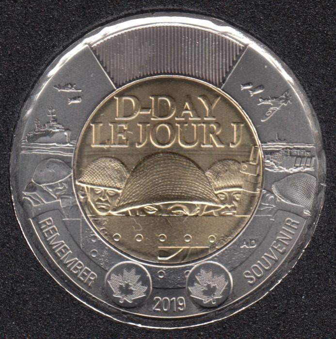 2019 - B.Unc - Le Jour J - Canada 2 Dollars