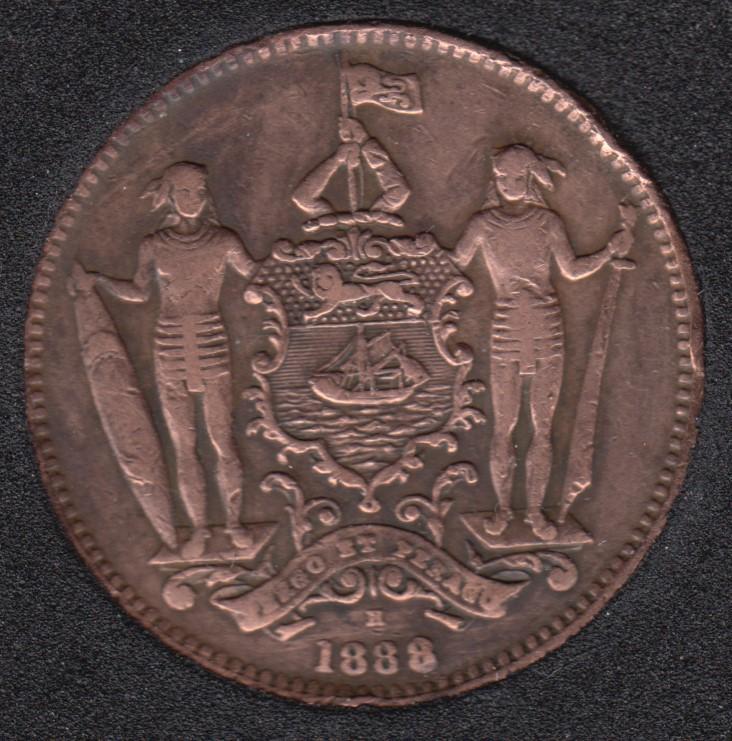 1888 H - 1 Cent - Nettoyé - British North Borneo