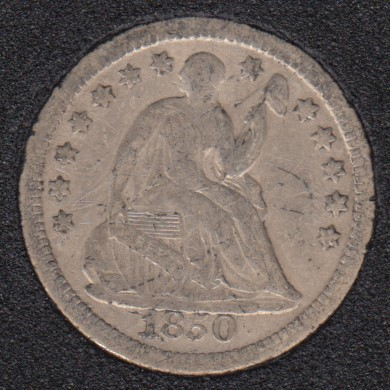 1850 - Liberty Seated - Half Dime