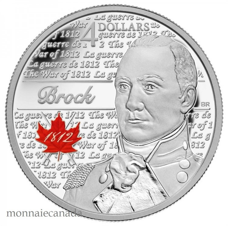 2012 - Sir Isaac Brock - Fine Silver Coin