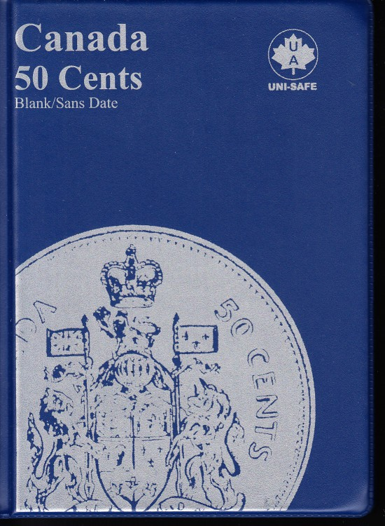 50¢ Canada Uni-Safe Album (Fifty Cents) Blank