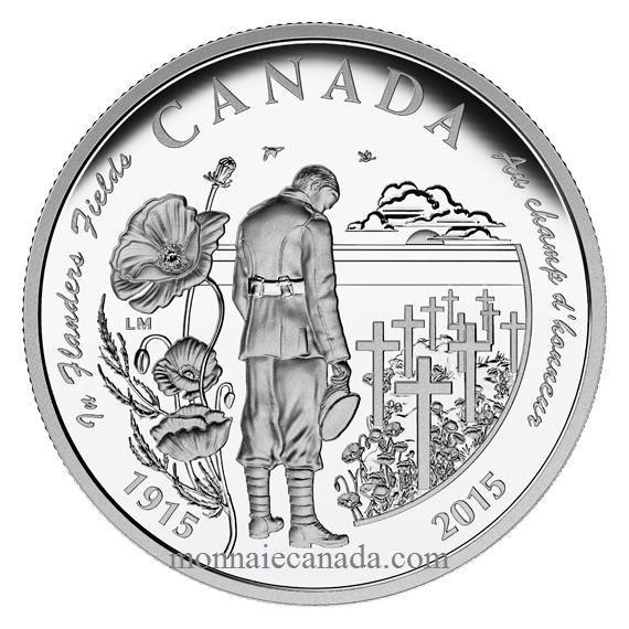 2015 - $20 - Pièce de 1 oz en argent fin – 100e anniversaire du poème Au champ d'honneur