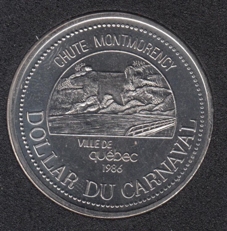 Quebec - 1986 Carnival of Quebec - Eff. 1986 / Chutes Montmorency - $2 Trade Dollar