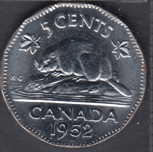 1952 - B.Unc - Canada 5 Cents