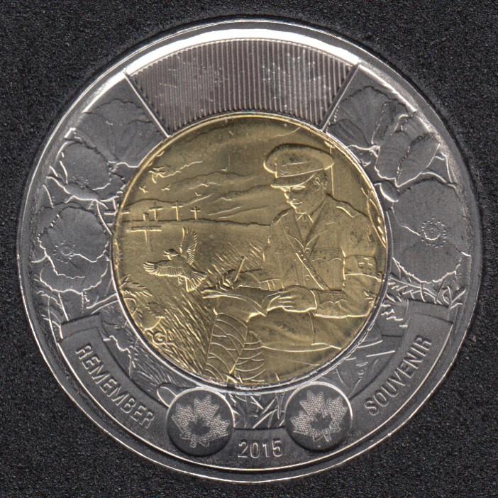 2015 - B.Unc - Au Champ D'Honneur - Canada 2 Dollars
