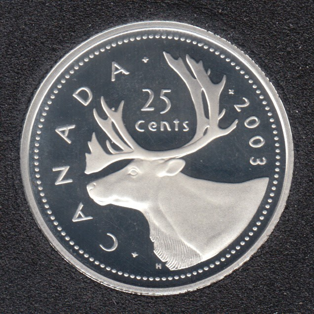 2003 - Proof - Argent - Canada 25 Cents