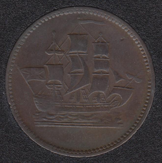 P.E.I. Ship Colonies & Commerce - Half Penny Token - PE-10-38