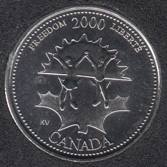 2000 - #911 NBU - Freedom - Canada 25 Cents