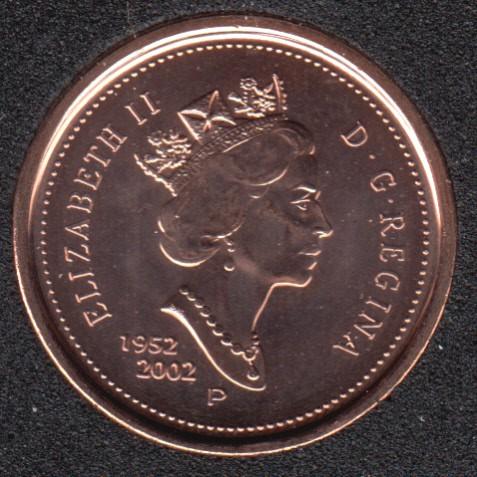 2002 - 1952 P - B.Unc - Canada Cent