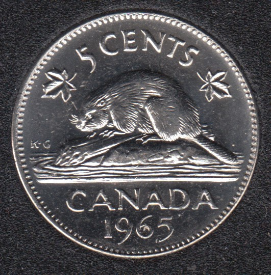 1974 CANADA 5 CENTS PROOF-LIKE NICKEL COIN