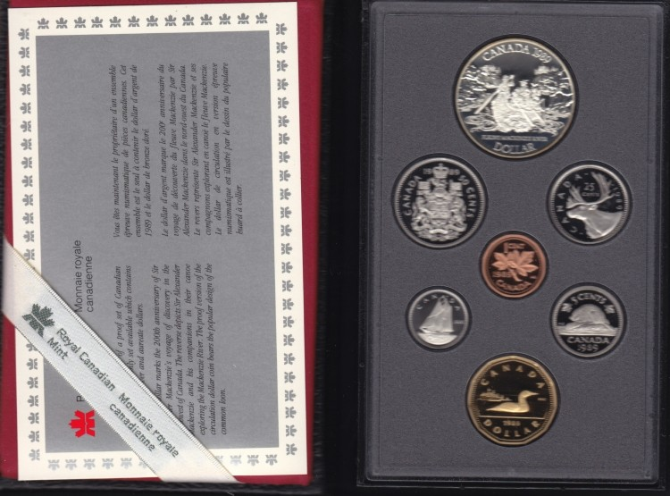 1989 CANADA DOUBLE DOLLAR PROOF SET