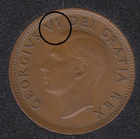 1951 - Break V to Rim - Canada Cent