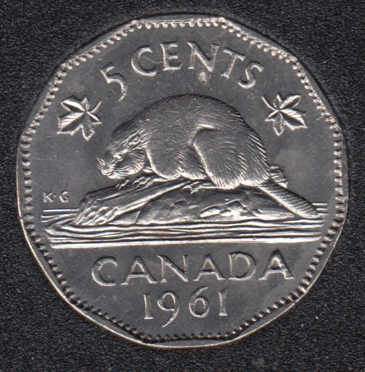 1961 - B.Unc - Canada 5 Cents