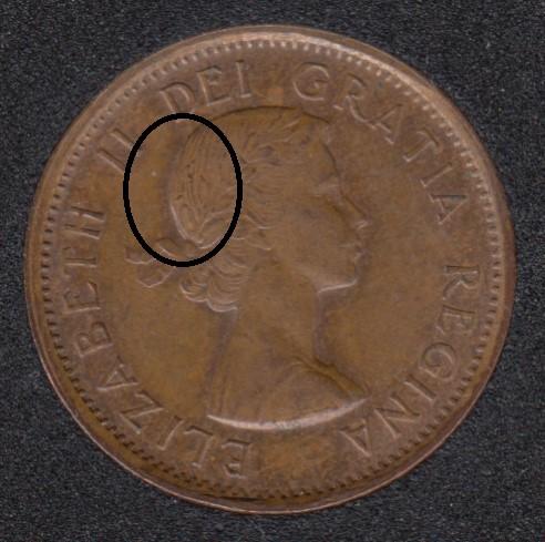 1958 - Dot dans Cheveux - Canada Cent