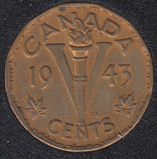 1943 - Tombac - Canada 5 Cents