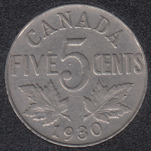 1930 - Canada 5 Cents