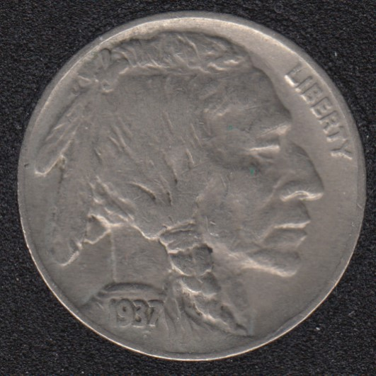 1937 - Indian Head - 5 Cents