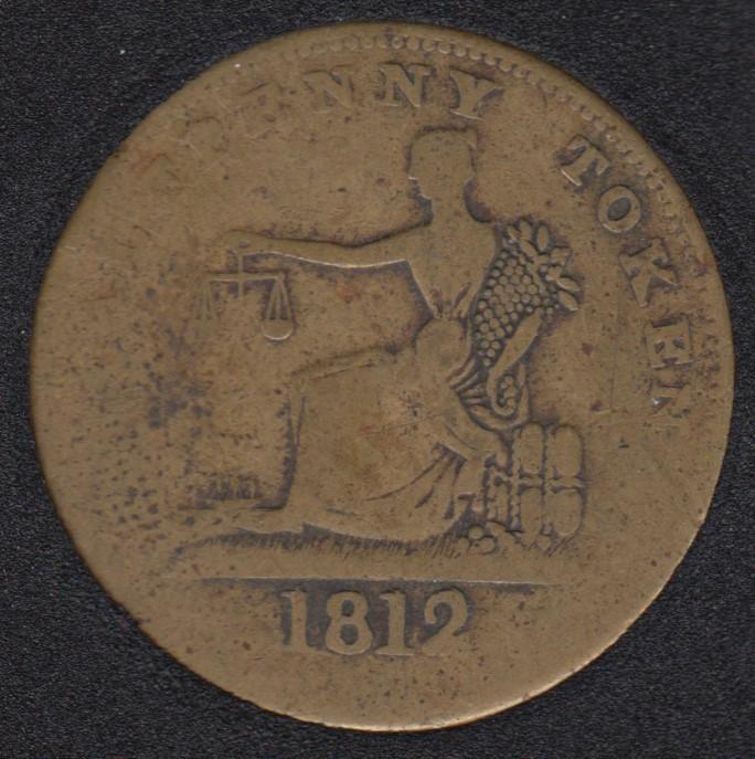 L.C. 1812 Imitation Tiffin Half Penny Token - LC-48B2