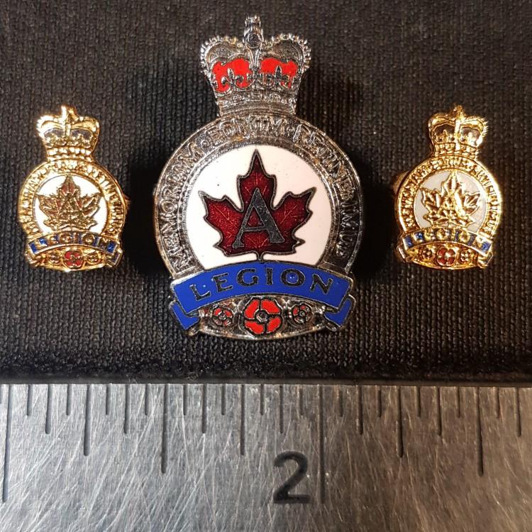 #130 The Royal Canadian Legion A Pin Back Enamel