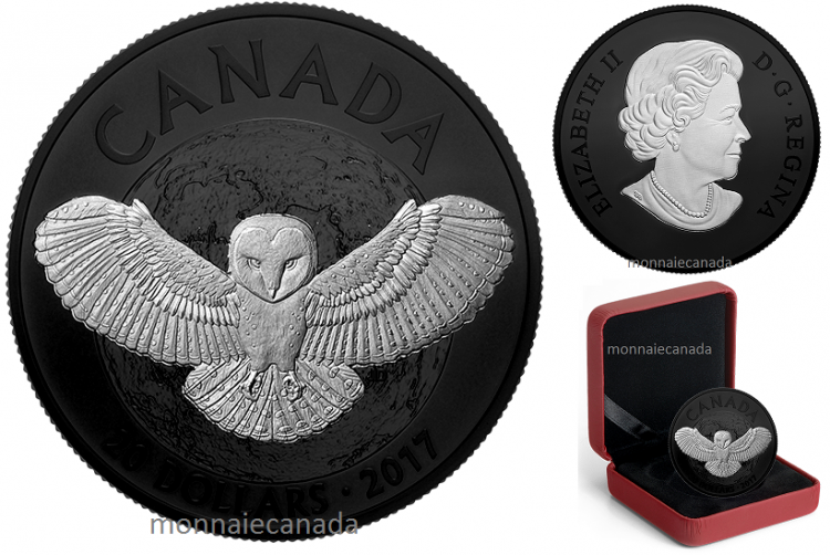 2017 - $20 - 1 oz. Pure Silver Coin - Nocturnal by Nature: The Barn Owl