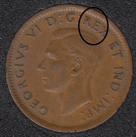 1943 - Break Head to E to Rim - Canada Cent