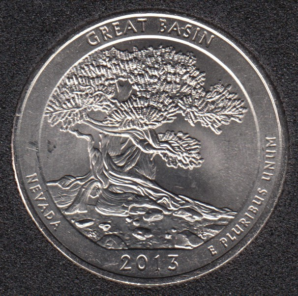 2013 P - Great Basin - 25 Cents