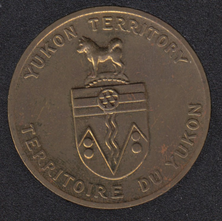 Coat of Arms of Yukon Territories Medal - with Yukon Flower Fireweed