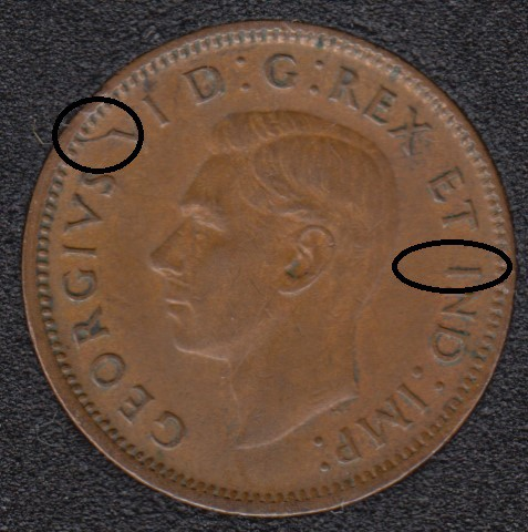 1944 - Break V I to Rim - Canada Cent