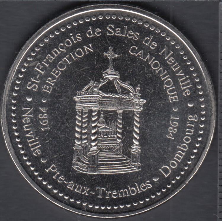 Neuville / Pointe-aux-Trembles - 1984 - 1684 - 300° Ann. Paroisse St-François-de-Sales de Neuville - $1 Trade Dollar
