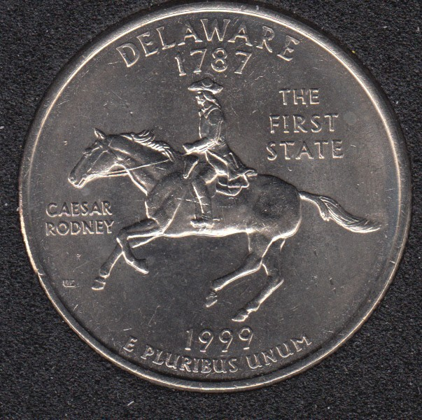 1999 D - Delaware - 25 Cents