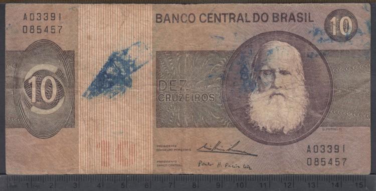 1974 - 10 Cruzeiros - Bresil