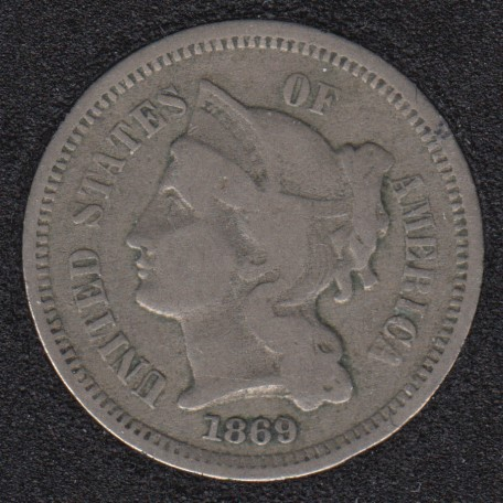 1869 - Nickel 3 Cents