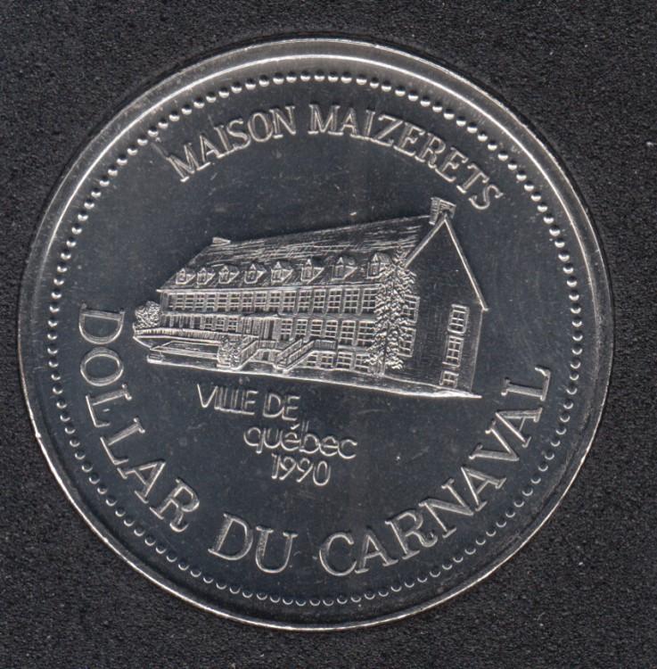Quebec - 1990 Carnival of Quebec - Pal. 1966 / Maison Maizerets - $2 Trade Dollar