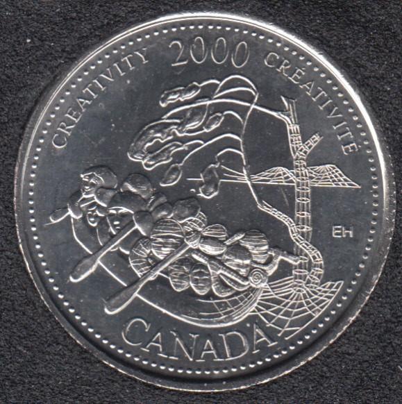 2000 - #910 B.Unc - Creativity - Canada 25 Cents