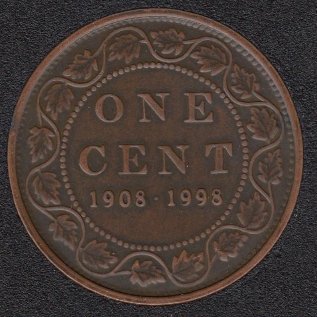 1998 - 1908 - Proof Antique - Canada Cent