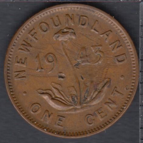 Newfoundland - 1943 C - 1 Cent